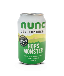 Our award winning Hops Monster Jun Kombucha fermented with raw honey and green tea