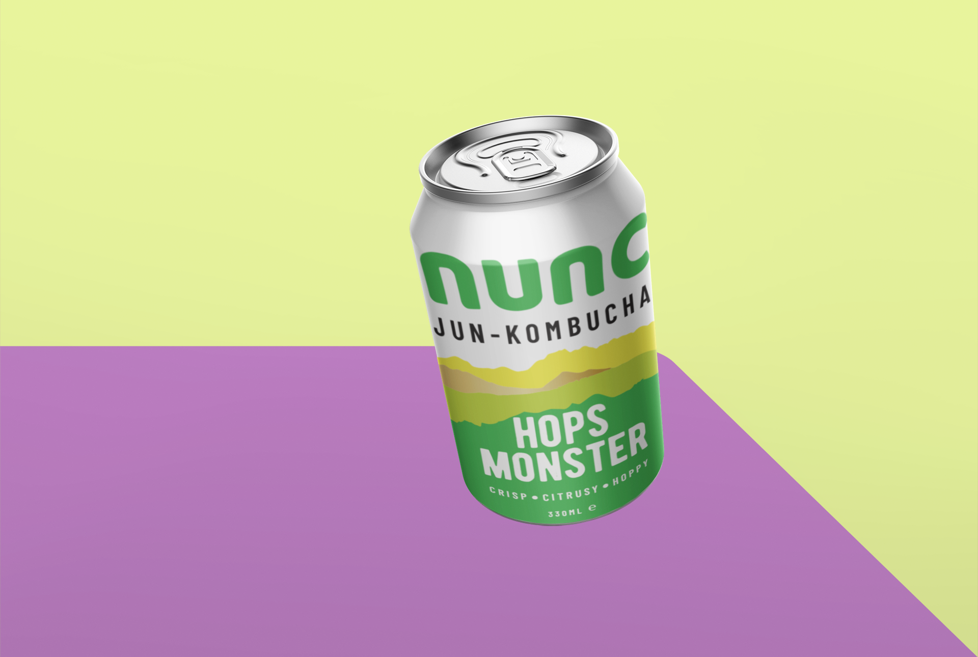 Nunc is a healthy fermented drink made with green tea and raw local honey