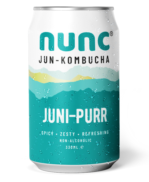 Juni-Purr Nunc. Fermented with juniper berries and Kaffir lime leaves